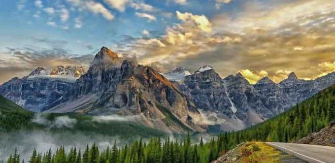 دره ده قله در کانادا